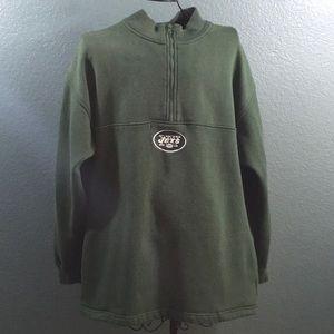 NY Jets Team NFL 1/2 Zip Pullover Sweatshirt